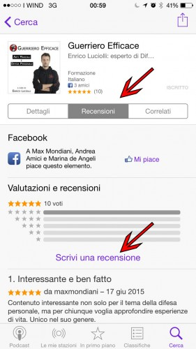 iphone podcast difesa personale